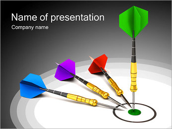 Game Darts PowerPoint Template