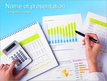 Business Report Sjablonen PowerPoint presentatie