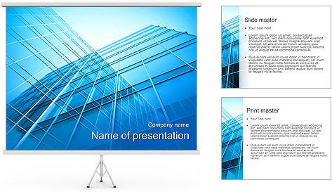 Gratte-ciel Modèles des présentations  PowerPoint