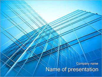スカイスクレーパー PowerPointプレゼンテーションのテンプレート