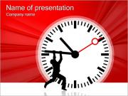 Man Fight With Time PowerPoint Templates