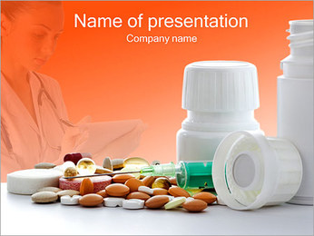 Needle And Pills PowerPoint Template