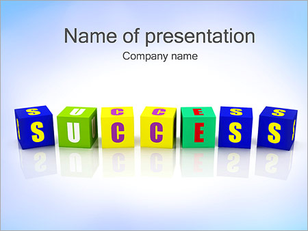brick of success powerpoint template backgrounds id 0000002629