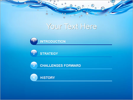 Abstract Water PowerPoint Template - Slide 3