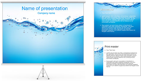 Abstract Water PowerPoint Template
