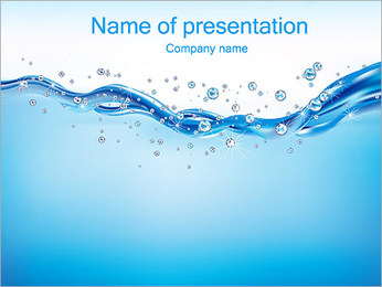 Abstract Water PowerPoint Template - Slide 1