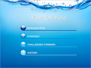 Abstract Water PowerPoint Templates - Slide 3