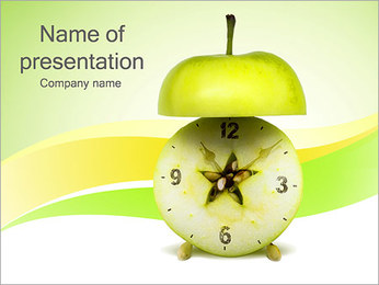 Apple Clock PowerPoint šablony