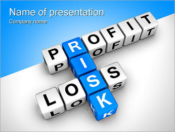 Risk Of Profit Loss PowerPoint Template