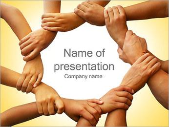 Ömsesidigt Arbete PowerPoint presentationsmallar
