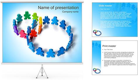 Dos plazas de equipo Plantillas de Presentaciones PowerPoint