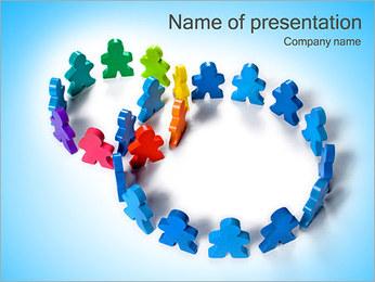 Dwie drużyny kwadraty Szablony prezentacji PowerPoint