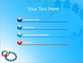 Dos plazas de equipo Plantillas de Presentaciones PowerPoint - Diapositiva 3