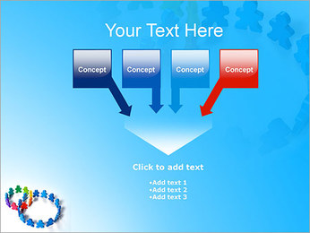 Dos plazas de equipo Plantillas de Presentaciones PowerPoint - Diapositiva 8