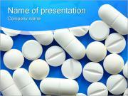 白い丸薬 PowerPointプレゼンテーションのテンプレート