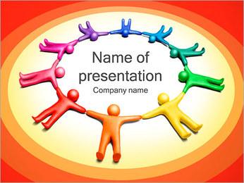 Círculo Equipo Plantillas de Presentaciones PowerPoint - Diapositiva 1