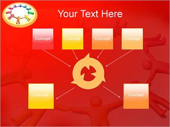 Círculo Equipo Plantillas de Presentaciones PowerPoint - Diapositiva 10