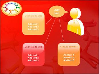 Círculo Equipo Plantillas de Presentaciones PowerPoint - Diapositiva 12