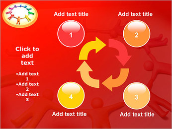 Círculo Equipo Plantillas de Presentaciones PowerPoint - Diapositiva 14