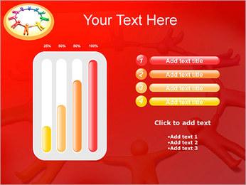 Círculo Equipo Plantillas de Presentaciones PowerPoint - Diapositiva 18