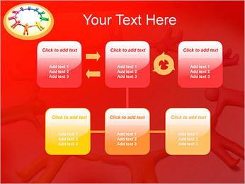 Círculo Equipo Plantillas de Presentaciones PowerPoint - Diapositiva 23