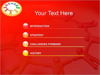 Círculo Equipo Plantillas de Presentaciones PowerPoint - Diapositiva 3