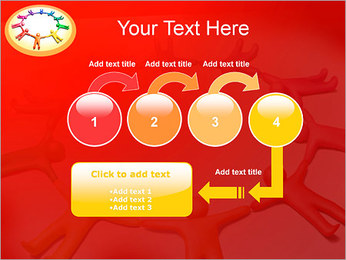 Círculo Equipo Plantillas de Presentaciones PowerPoint - Diapositiva 4