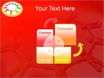Círculo Equipo Plantillas de Presentaciones PowerPoint - Diapositiva 5