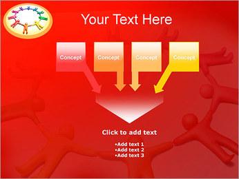 Círculo Equipo Plantillas de Presentaciones PowerPoint - Diapositiva 8