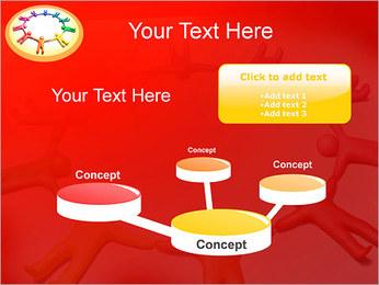 Círculo Equipo Plantillas de Presentaciones PowerPoint - Diapositiva 9