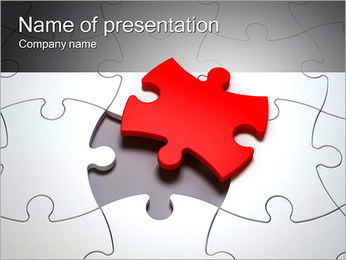 Part Of The Puzzle PowerPoint šablony