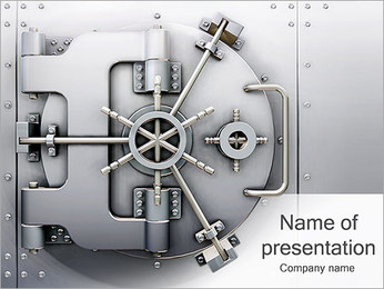 Bank Lock PowerPoint Template