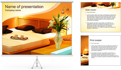 Light colored room powerpoint template backgrounds id for Apartment design ppt