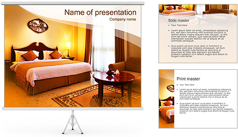 Classical hotel room powerpoint template backgrounds id for Apartment design ppt