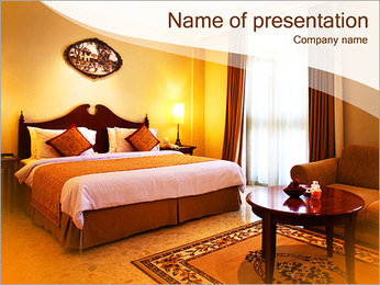 Classical Hotel Room PowerPoint Template