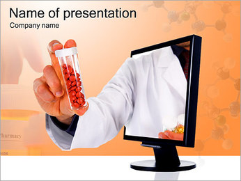 Bottle With Red Pills PowerPoint Template