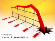 Profit Fall Down PowerPoint Templates