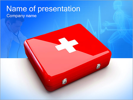 First aid kit powerpoint template backgrounds id 0000002663 first aid kit powerpoint template toneelgroepblik Images