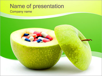 Pills In The Apple PowerPoint Template