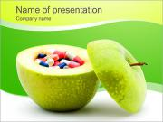Pills In The Apple PowerPoint Templates