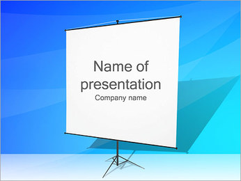 Presentation Desk Board PowerPoint Template