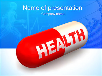 Health Sign On Pill PowerPoint Template