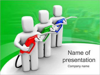Essence des coûts et de gaz Modèles des présentations  PowerPoint - Diapositives 1
