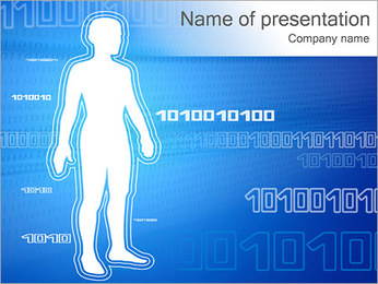 Blue Abstraction Body PowerPoint Template