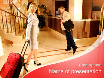 Two Hotel Guests PowerPoint Template