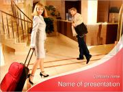 Two Hotel Guests PowerPoint Templates