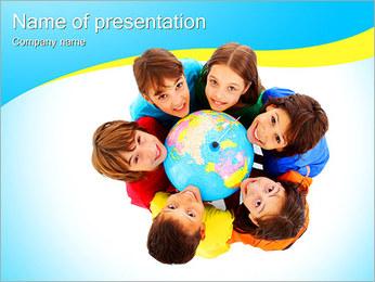 Kids International I pattern delle presentazioni del PowerPoint
