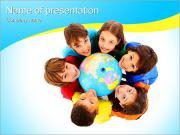Crianças internacionais Modelos de apresentações PowerPoint
