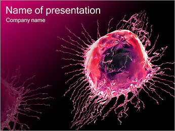 Pink Abstract Object PowerPoint Template