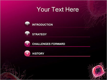 Pink Abstract Object PowerPoint Templates - Slide 3